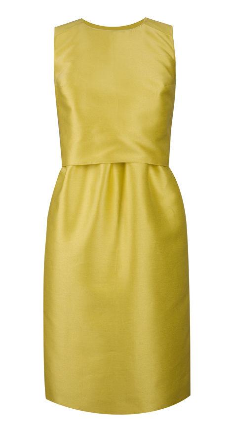 robe jaune poussin en satin