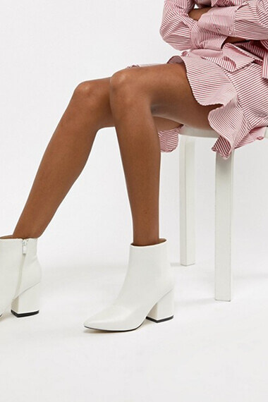 bottines blanches