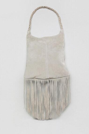 sac à franges gris