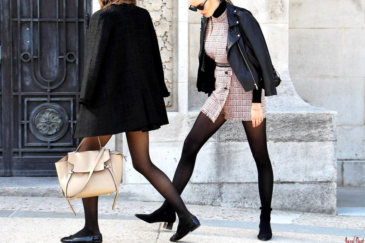 Porter les collants noirs : l'astuce mode