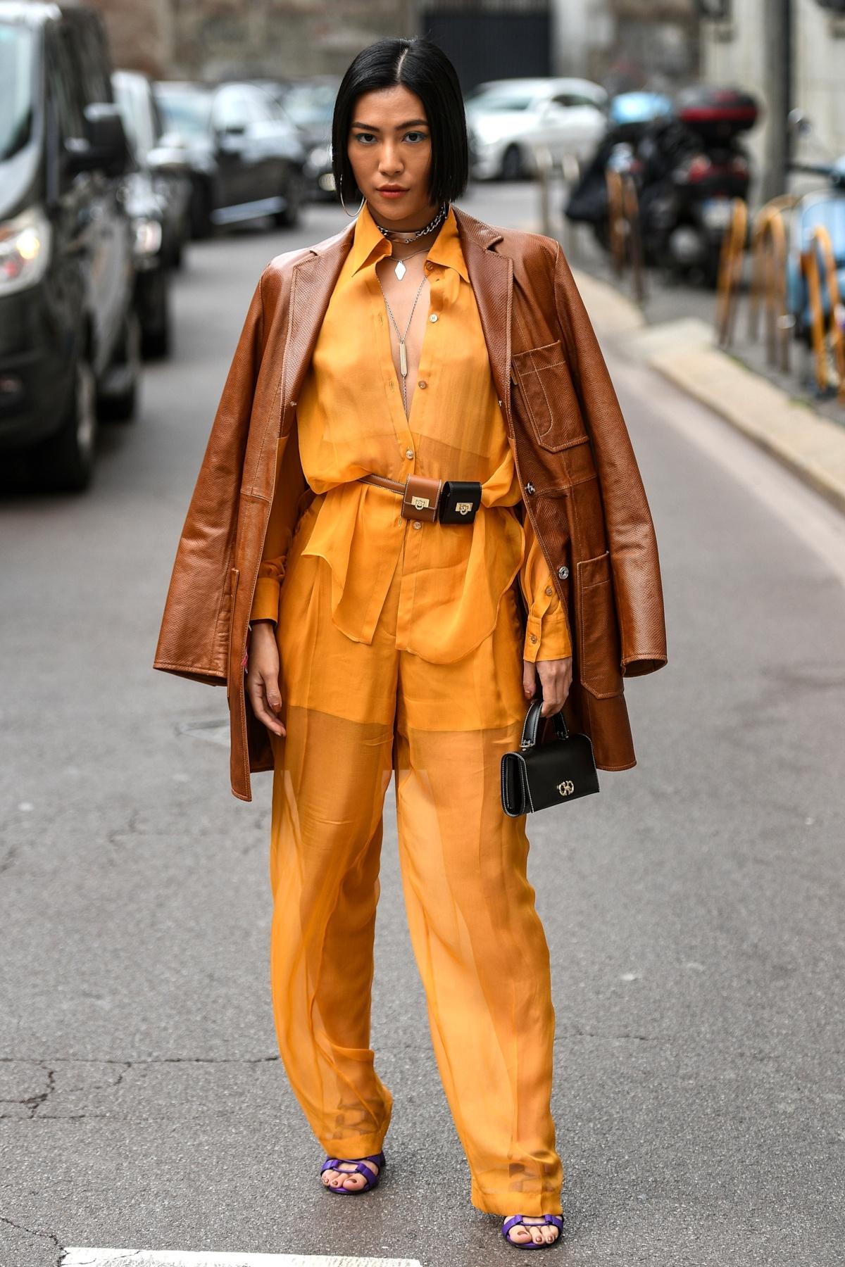 Anatomie d'un look : orange & marron