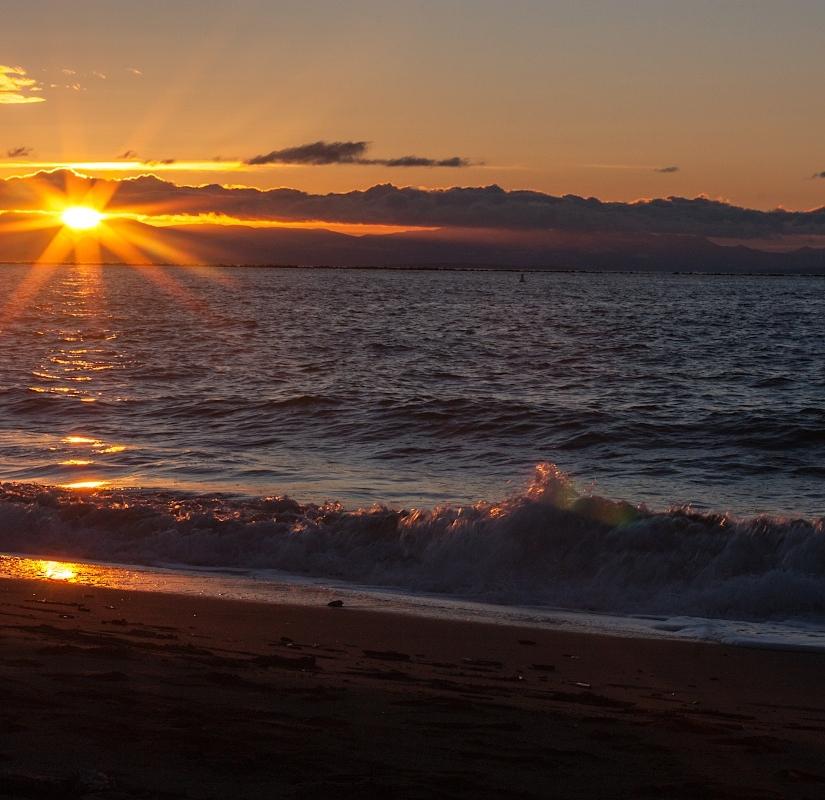 Coucher de soleil sur Wreck Beach