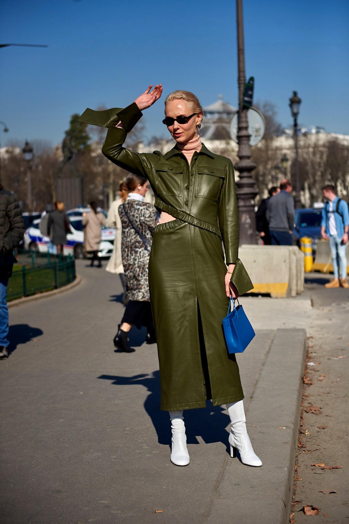 Anatomie d'un look : une robe en cuir mode