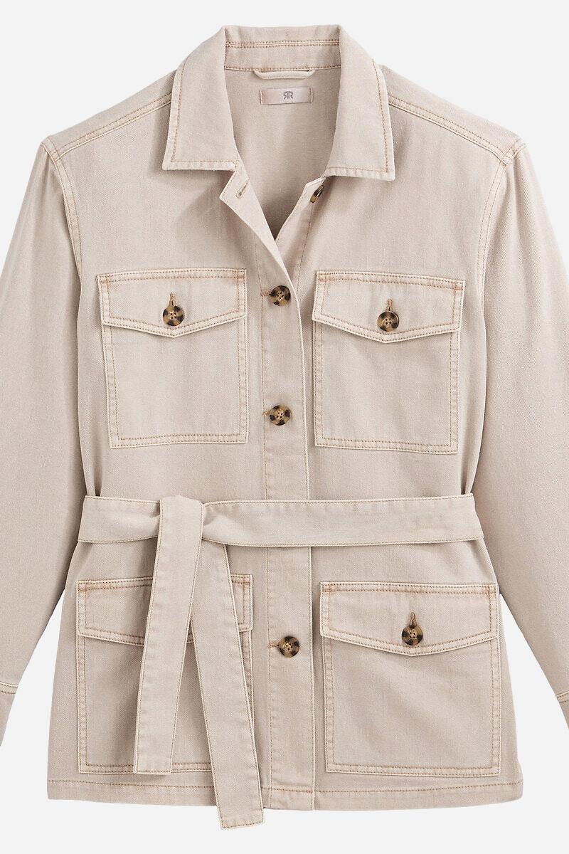 Saharienne beige style années 70