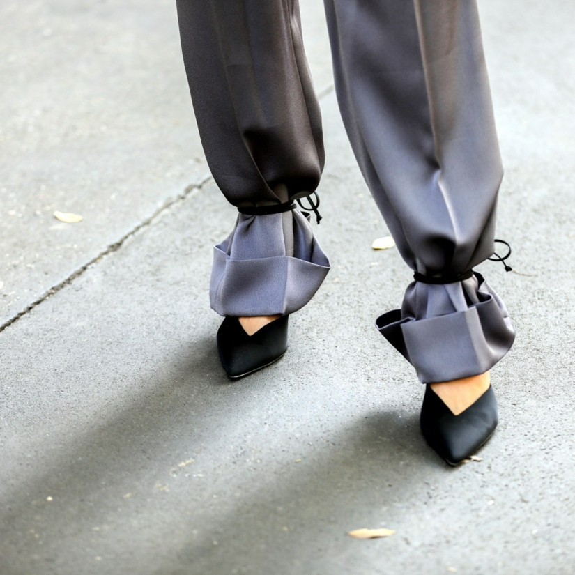 Lacets à la chevilles : pour se passer de l'ourlet de pantalon ?